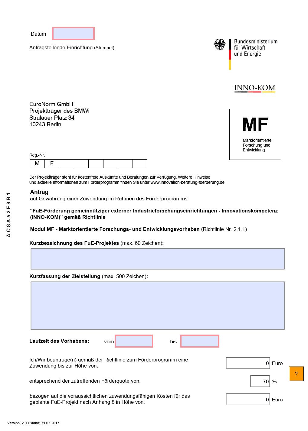 Innovation - Beratung - Förderung - Dokumente