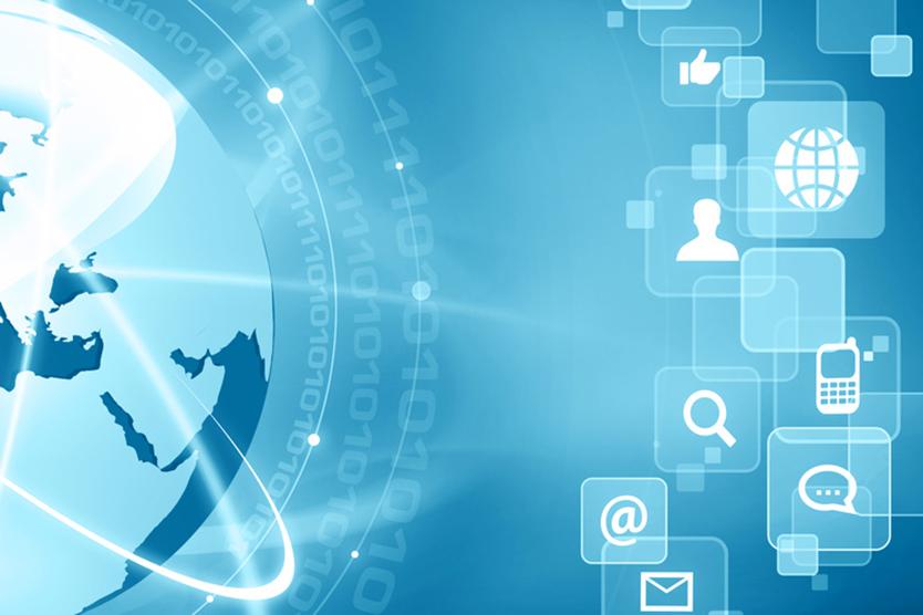 Weltkugel und Symbole zum Thema Digitaler Binnenmarkt; Quelle: Fotolia.com/Julien Eichinger